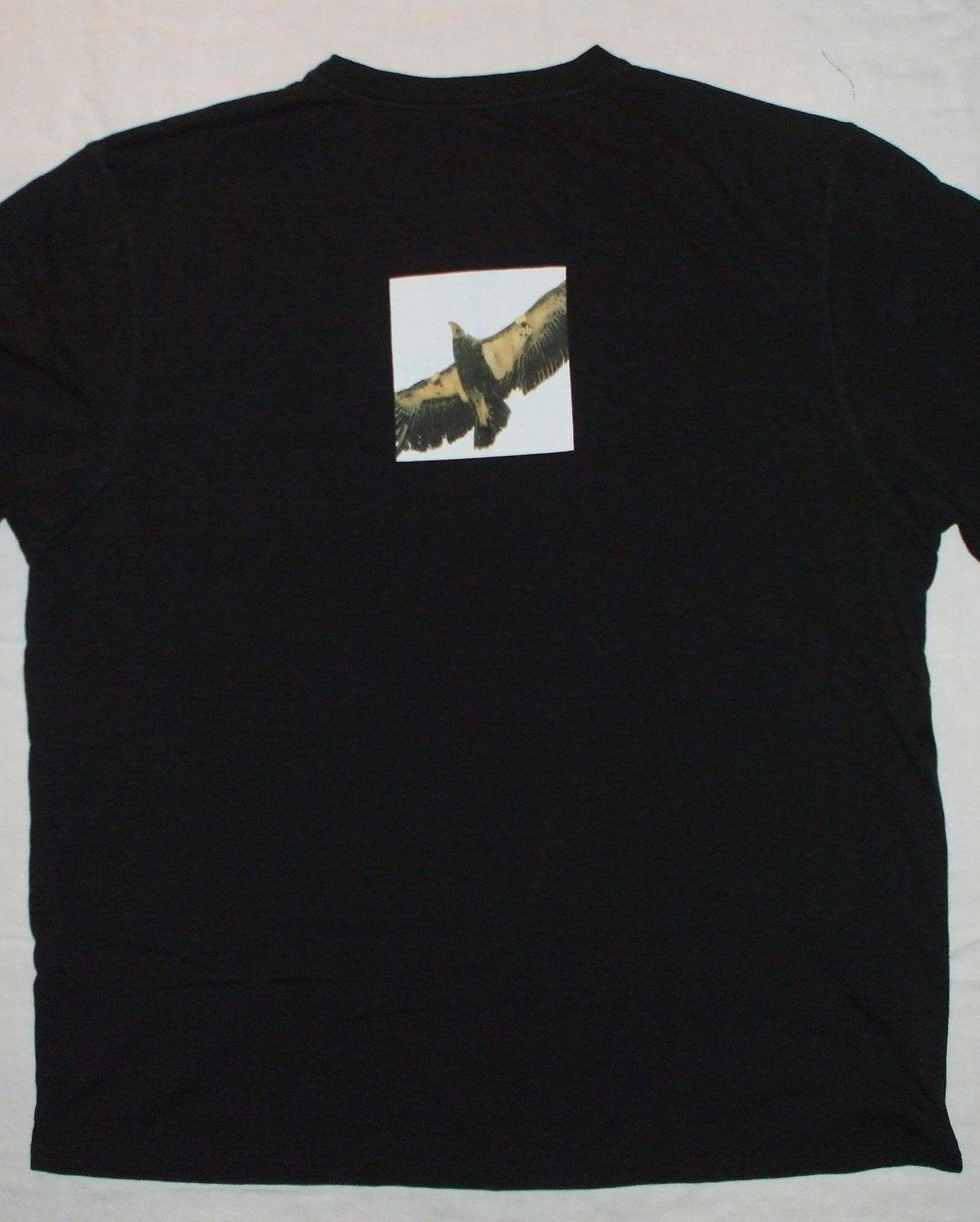California Condor Endangered Bird Black T-Shirt Peregrine Cotton Crewneck  XL