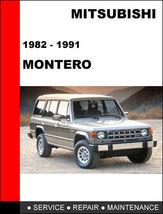 Details About  Mitsubishi Pajero Montero 1982 1991 Factory Repair Manual Access - $14.95