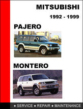 Details About  Mitsubishi Pajero Montero 1992 1999 Factory Repair Manual Access - $14.95