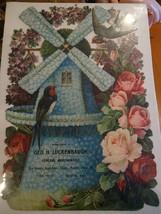 LARGE Giant Victorian Die Cut Advertising Wiota York Co, PA Luckenbaugh ... - $80.00