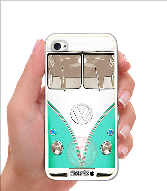 Used, VW Vintage Mint Mini Bus iPhone Case - Rubber Silicone iPhone 5 Case for sale  USA