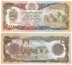 AFGHANISTAN LARGE 1,000 AFGHANIS UNCIRCULATED - $1.82