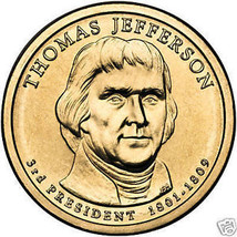Thomas Jefferson Bu 2007-P Presidential Dollar~Free Shipping - $3.22
