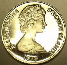 Large Rare Proof Solomon Islands 1978 20 Cents~5,122 Minted~Malaita~Free Ship - $15.34