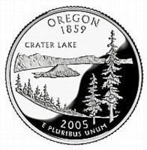 2005 P Oregon  Briliant Uncirculated State Quarter~Free Shipping Inc~ - $2.83