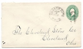 1892 Quaker City, OH Vintage Post Office Postal Cover - $9.95