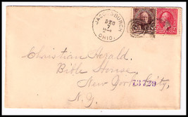 "1896 Jacobsburgh, OH/New York City, NY Station ""D"" DPO REGISTERED Cover - $9.95"