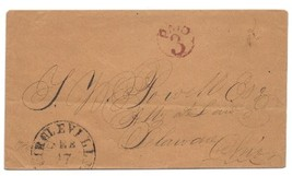 c1850s Circleville, OH Vintage Post Office Postal Cover - $9.95