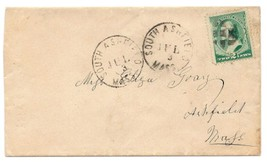 c1885 South Ashfield, MA Discontinued/Defunct Post Office (DPO) Postal C... - $9.95