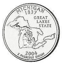 2004-D MICHIGAN GEM UNCIRCULATED STATE QUARTER~FR/SHIP~ - $2.88