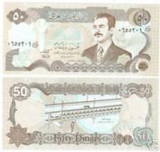 IRAQ SADAAM HUSSEIN LARGE 50 DINARS UNC NOTE~FREE SHIP~ - $4.01