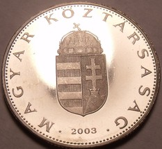 Rare Proof Hungary 2003-BP 10 Forint~Only 7,000 Minted~Minted In Budapes... - $15.73