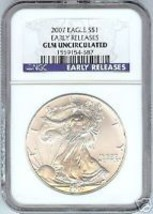 2007 Early Release Gem Unc Silver Eagle~Free Shipping~ - $51.44