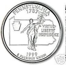1999-D PENNSYLVANIA BRILLIANT UNC STATE QUARTER - $1.78