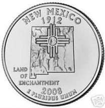 2008 D New Mexico Brilliant Unc State Quarter~Free Ship - $3.11