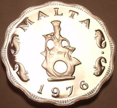 Rare Proof Malta 1976 5 Mils~Earthen Lampstead~Only 26,000 Minted~Free Shipping - $9.69