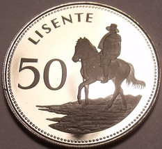 Rare Proof Lesotho 1979 50 Lisente~10k Minted~Equestrian Rider~Free Shipping - $16.94