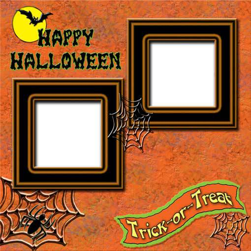 Halloween 4 ~ Digital Scrapbooking Quick Page Layout