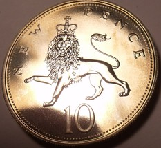 Large Proof Great Britain 1971 10 New Pence~Proofs Are The Best Coins~Free Ship - $6.89