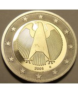 Cameo Proof Germany 2005-G One Euro~Karlsruhe Mint~Excellent~Bi-Metal~Free Ship~ - $10.73