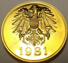 AUSTRIA 1981 PROOF SET MEDALLION~EXCELLENT~FREE SHIP~ - $5.06