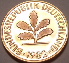 Gem Cameo Proof Germany 1982-D Pfennig~Minted In Munich~78,000 Minted~Free Ship - $5.44