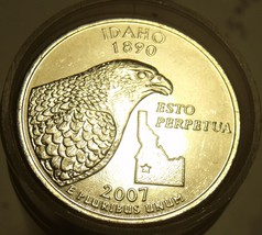 GEM UNCIRCULATED ROLL IDAHO 2007-P STATE QUARTERS~FREE SHIPPING~ - $23.51