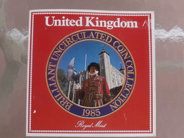 Gem Great Britain 1985 Royal Mint Issued 7 Coin Brilliant Unc coin Set~F... - $21.44