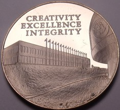 Massive Bronze Proof Franklin Mint 10th Anniversary Medallion~1974~Free ... - $9.30