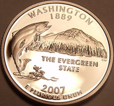 Cameo Proof 2007-S Washington State Quarter~We Have proof State Quarters~Free Sh - $4.63