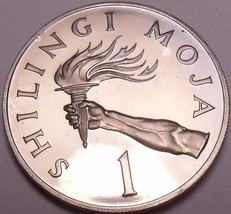 Rare Proof Tanzania 1966 Shilingi~5,500 Minted~The Torch~Excellent~Free ... - $19.49