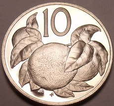 Proof Cook Islands 1976 10 Cents~18,000 Minted~Orange Tree~Free Shipping - $6.71