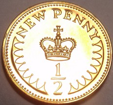 Great Britain Proof 1980 Half New Penny~We Have great britain Proofs~Fre... - $5.24