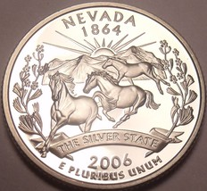 Gem Cameo Proof 2006-S Nevada State Quarter~Free Shipping - $4.60