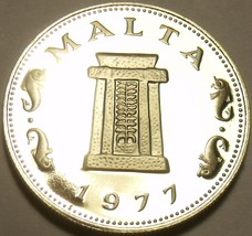 Rare Proof Malta 1977 5 Cents~6,884 Minted~Temple Of Hagar Qim~Free Shipping - $6.83