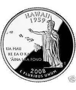 2008-P HAWAII GEM UNCIRCULATED STATE QUARTER~FREE SHIP~ - $2.30