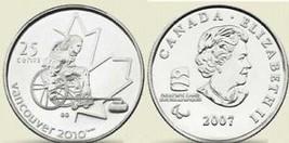 UNC CANADA OLYMPIC 2007 WHEELCHAIR QUARTER~FREE SHIP - $2.86