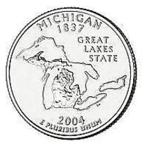 2004-P MICHIGAN BRILLIANT GEM UNC STATE QUARTER~FREE SH - $2.99
