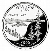 2005-D OREGON  BRILLIANT UNCIRCULATED STATE QUARTER - $0.98
