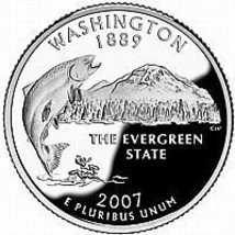 2007 D Washington Brilliant Uncirculated State Quarter~Free Shipping Included~ - $2.72
