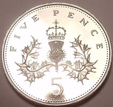 Gem Cameo Proof Great Britain 1988 5 Pence~Only 125,000 Minted~Free Ship... - $6.85