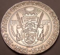 Unc Silver Austria 1972 50 Schilling~350th Anniversary Of Salzburg University~FS - $40.17