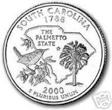 2000-D SOUTH CAROLINA BRILLIANT UNC STATE QUARTER - $1.22