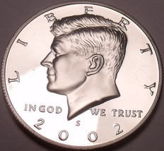 2002-S SPECTACULAR GEM PROOF KENNEDY HALF~FREE SHIPPING - $7.62