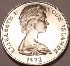 Rare Cook Islands 1972 10 Cents~Orange~1st Year Ever Minted~Awesome~Free Ship - $7.20