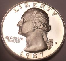 1987-S CAMEO PROOF WASHINGTON QUARTER~FREE SHIPPING~ - $5.01