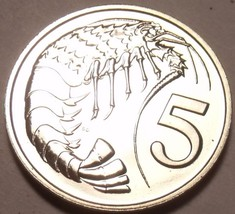 PROOF CAYMAN ISLANDS 1972 5 CENTS~1ST YEAR EVER~PRAWN~FREE SHIPPING~ - $6.10