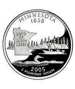 2005-D MINNESOTA GEM BRILLIANT UNCIRCULATED STATE QUARTER~FREE SHIPPING ... - $2.76