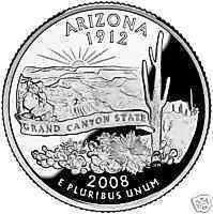 2008-P ARIZONA BRILLIANT UNC STATE QUARTER~~FREE SHIP~~ - $2.99