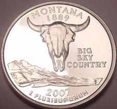 Cameo Proof 2007-S Montana State Quarter~Free Shipping - $5.77